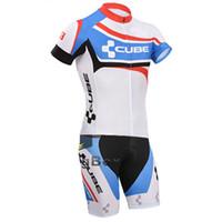 traje de lycra al por mayor-CUBO personalizado hombres ciclismo trajes de lycra bicicleta triatlón velocista trisuit corriendo trajes de cuerpo traje de baño mono