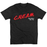 camisetas de nylon para hombre al por mayor-Camisetas para hombre C.r.e.a.m. Dare Wu-tang Clan Underground Hip Hop Leyendas Camiseta Algodón O Cuello Manga Corta Camiseta Y19050902