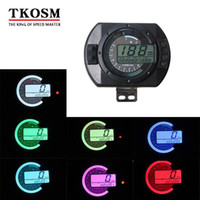 nível digital venda por atacado-TKOSM Motocicleta 12500 RPM Velocímetro Digital Colorida Display LCD Velocímetro Odômetro Nível de Óleo RPM Medidor de Velocidade Instrumentos