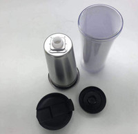 Wholesale travel mugs for sale - 450ml stainless steel storyboard tumblers inside stainless steel outside plastic water travel mugs with lid plastic bottom
