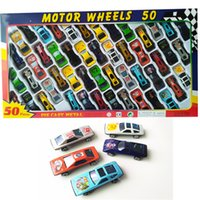juguetes de metal modelo de coche al por mayor-Kids Car Metal Model Cars Juguetes Juguetes de dibujos animados 50 Estilos / Box Racing Car Friends Metal Car Toys Los mejores regalos de Navidad Envío libre de DHL