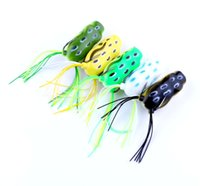 Wholesale plastic fishing lures frog resale online - soft bait plastic fishing lures frog lure fishing hooks Topwater frogs mm G artificial soft bait