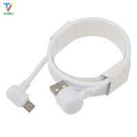 Wholesale micro usb cable pack online – 300pcs F Cardboard Packing Round side Degree elbow data cable micro pin usb Type C USB C cable Date for Sumsung HTC xiaomi