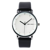 часы для двоих оптовых- Time Story Anticlockwise Casual Watch Men Watches Simple Refreshing Fashion Personality Student Noble Breath Steel Watch