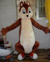 ingrosso costumi marrone code-Costume della mascotte del personaggio adulto del costume della mascotte del vestito operato dalla coda della coda grande dello scoiattolo adulto per l'evento della festa di Halloween