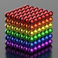 magic sphäre puzzle großhandel-Neue Art-216pcs 3mm Magie-Magnet-magnetische DIY D3 Ball Kugel Neo Neodym-Würfel