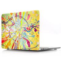 funda de plástico para laptop al por mayor-La pintada del color del patrón del estuche rígido de plástico de protección para Macbook air13 (A1932) cubierta del ordenador portátil Pro15 retina con la cubierta del teclado