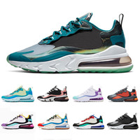 Nike Air Max 270 React Neue Ankunft Marke Air BAUHAUS reagieren Männer Laufschuhe Bright Violet OPTICAL Blue Void Mens Trainer atmungsaktive Sport