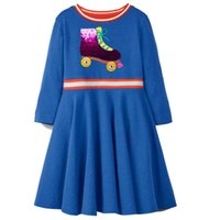 Wholesale baby clothes mermaids resale online - Flamingo Embroidered Princess Dress Designer Kids Clothes for Girls Summer Dress Unicorn Appliqued Baby Clothing Tunic Girl Clothes