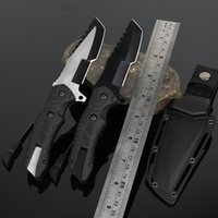 Wholesale self defense multi tool for sale - Group buy 8 Fixed Blade Knife with Sheath Outdoor Survival Tactical Knife Multi function Camping Hunting Knives EDC Self defense Tool