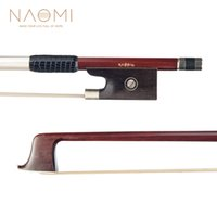 ingrosso gli occhi dell'arco-NAOMI 4/4 Violin Bow IPE Bow W / Paris Eye Ebony Frog per 4/4 Violino New Violin Parts Accessori
