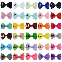 Wholesale grosgrain ribbon headbands for baby for sale - Group buy 30colors grosgrain ribbon hair bows Without Clip baby hairbow Boutique bow for Children hair accessories