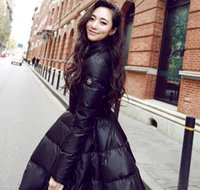 ingrosso giacca gialla delle signore-New Fashion Women Winter Down Giacche Warm Long Slim Coat e Jacket Big Swing Giallo / nero Ladies Snow Outweat