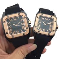 uhren für porzellan großhandel-2019 heißer Verkauf Luxus Frauen Herrenuhren Hohe Qualität Quarz Sport Liebhaber Armbanduhr Mit Geschenkbox