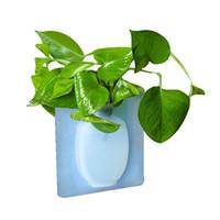 ingrosso gomma frigorifera-Adesivi in gomma magica in silicone sulla parete di vetro Adesivi decorativi in vetro a forma di vaso da appendere a parete