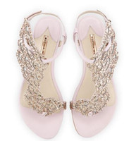 ingrosso abiti gli angeli-Sandali piatti Sophia Webster cristallo farfalla infradito donna infradito angelo ali perizoma piatte scarpe casual donna estate tacchi sandali