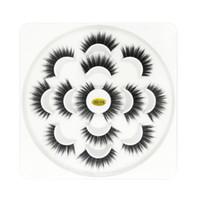 sahte lotus toptan satış-7 pair Lotus 5D Yanlış Kirpik 3.5 cm Doğal Uzun Kalın Yumuşak Sahte Kirpik 7 Çift / takım Uzantıları Flair Siyah Renk Kirpikler toptan