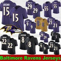 justin tucker trikot großhandel-8 Lamar Jackson Baltimores Fußballjerseys Raven 29 Earl Thomas 15 Marquise Brown 9 Justin Tucker 21 Mark Ingram II 55 Suggs 81 Hurst 2019