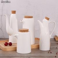 Wholesale vinegar pot for sale - Group buy NOOLIM Kitchen Porcelain Olive Oil Pot Soy Sauce Vinegar Seasoning Can Oil Bottle Kitchen Cooking Tools Storage Bottles