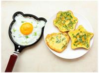 Wholesale fried egg molds resale online - 50pcs Cartoon Mini Non Stick Breakfast Omelet Pan Pancake Egg Fryer Skillet Fry Frying Pan Molds Kitchen Cookware wen5474