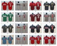 camo beyzbol formaları toptan satış-Philadelphia Erkek Phillies Bryce Harper Forması 3 Harper Gerileme Mavi Beyaz Kırmızı Şerit Krem Camo Alternatif Ev Uzakta Yol Beyzbol Formalar