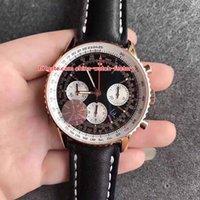 ingrosso migliori orologi cronografo-8 Style Best Quality Top Classic Classic 43mm Navitimer Chronometer Cronografo di lavoro Swiss ETA 7750 Movimento automatico Mens Watch Watches