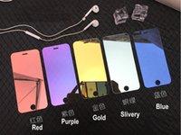 film de protection d'écran en miroir achat en gros de-9H Colorfull Pratique Make UP Film de protection d'écran miroir pour iPhone 8 7 6 6 s Plus XR XS MAX X verre trempé pour iPhone 7