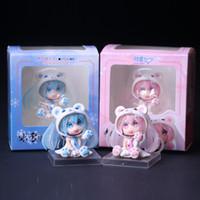 figuras de brinquedo miku venda por atacado-2 estilos Delicado Mini Boneca Urso Neve Sakura Miku Figura de Ação Anime Hatsune Miku Nendoroids Modelo Meninas Toy Gift Collectibles