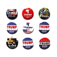medaillenbroschen großhandel-Trump 2020 Election Promotion Brosche US Presidential Medal Trump Medaille Zinn Wahl Chest Dekoration T3I5313