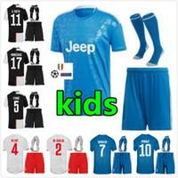 Wholesale ronaldo jersey youth resale online - 2019 Soccer FC Youth Juventus Jersey Kids Set White RONALDO CHIELLINI COSTA MANDZUKIC DYBALA MATUIDI Children Football Shirt Kits