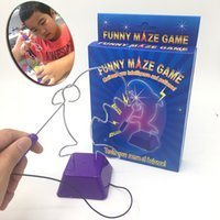 Wholesale games studies online – design Kids Collision Electric Shock Toy Education Electric Touch Maze Game Party Funny Game Children Kids Study Supplies