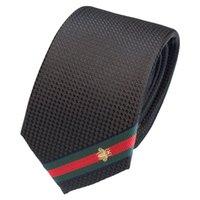 erkek kravat kemeri toptan satış-2009 Yüksek Kaliteli Tasarımcı Yeni erkek Bireysel Eğik Şerit Kravat Renkli Arı Kemer Iş Eğlence Kravat