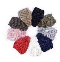 Wholesale crochet cowboy hats for sale - Group buy Women winter Knitted hat Lady fashion Slouchy Beanie Gifts Top Quality Crochet Cap New Arrival