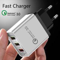 portable iphone charger großhandel-Tragbares Ladegerät für iPhone Ladegerät Qc3.0 Schnellladung Schnellladung 13 USB-Anschlüsse 3.1A Schnellladung für iPhone Samsung Galaxy