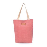 Wholesale 50pcs Shoulder Bag Women Stripes Canvas Bags Lady colors Large Capactiy tote handbag