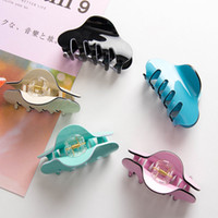 Wholesale crabs claw resale online - 10pcs Large Candy Color Hair Claws Grip Women Hairpins Crab Clips Fashion Acrylic Ponytail Clamps Headdress Accessories