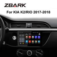 2gb car mp3 al por mayor-Android 10.1 pulgadas RAM 2GB Radio del coche Reproductor multimedia estéreo gps Bluetooth para KIA RIO K2 2017 2018 NO DVD TK0159 DVD del coche