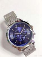 прозрачные кварцевые мужчины оптовых-2019 горячие продажи скелет кварцевые часы для человека, чтобы покинуть берег фон прозрачный синий циферблат watch4