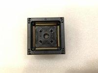 enchufes yamaichi al por mayor-IC357-1764-081P-1 Yamaichi IC Test Socket QFP176 0.5mm Pitch IC body size 24x24mm Burn in Socket