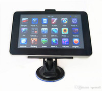 china bluetooth grátis venda por atacado-Navegação do carro de 7 polegadas GPS com o navegador do avoirdupois de Bluetooth DDR256MB + 4GB 8GB MTK ganham o CE multilingue livre multilingue