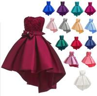 Wholesale girls leopard costume halloween online - Girl Bridesmaid Party dress Pageant Wedding Formal Ball Gown Summer Fashion Clothing Dance Tutu Dress Costume KKA6687