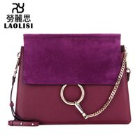 Wholesale hasp ring resale online - Lucky2019 Leather Genuine Woman Package Ring Matting Bag Girl Temperament Single Shoulder Satchel Handbag