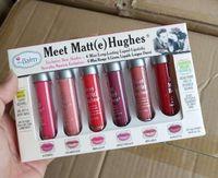 Wholesale mini lipsticks set for sale - Group buy Meet Matte Hughes Lip Gloss Set Colors Mini Makeup Liquid Lipstick Long Lasting lip Cream with the Brand Cosmetics Lipsticks