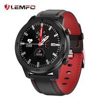 ingrosso smartfoatch di lemfo-Schermo LEMFO intelligente Guarda Full Touch frequenza cardiaca IP68 impermeabile Smartwatch Uomini Donne per Huawei Android