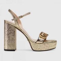 sandalet kalın topuklu toptan satış-Kadın Kalın Topuklu Sandalet Inek Deri Yaz Pompaları Akın Kadın Sandalet Saçak Topuklu Kadın Kök Moda Yüksek Topuklu Sandalet ayakkabı