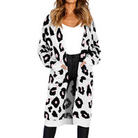 63651065955 Cardigan Womens Tops and Blouses Autumn 2018 Elegant Leopard Print Long  Sleeve Long Blouse Tunic Ladies Top for Womens Clothing
