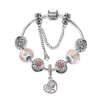 ingrosso ornamenti in halloween in rilievo-New hollow love heart albero della vita bracciali donne di alta qualità aDIY originale in lega di cristallo ornamenti perline accessori