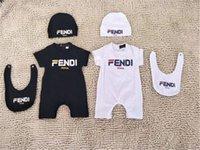 unisex-tasche für babys großhandel-Baby Luxus Designer Overalls Tasche Gedruckt Neugeborene Kleidung Kleinkinder Mode Strampler Kinder Kurzarm Baby Strampler