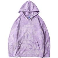 illüzyon gömlek toptan satış-Erkek Hip Hop Hoodie Kazak Streetwear Illusion Kravat Boya Hoodies Kazak 2019 Sonbahar Harajuku Ter Gömlek Pamuk Gevşek HipHop