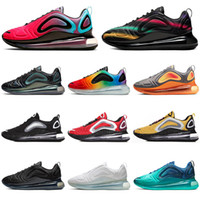 zapatillas grises rojas al por mayor-Nike air max 720 720s Nuevos zapatos para correr Be True Hombres Mujeres University Red SEA FOREST CARBON GREY sunset zapatillas de deporte para hombre zapatillas deportivas